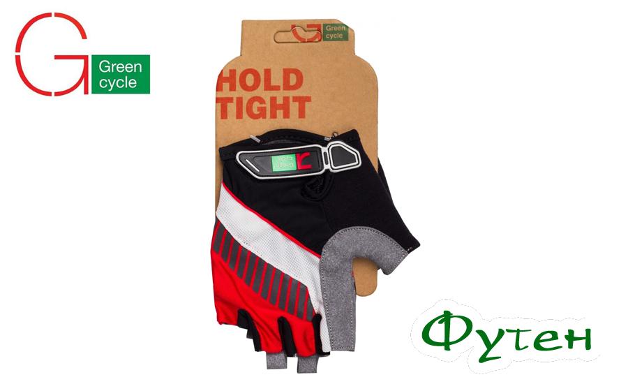 перчатки Green Cycle MTB Gel красно-белые