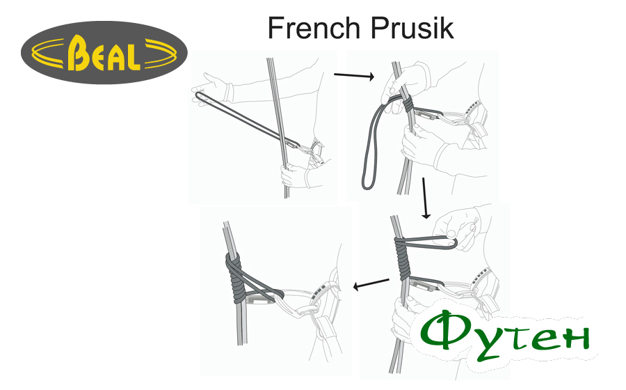 Как вязать французский узел Прусика