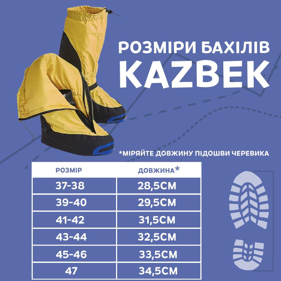 Размерная сетка Fram KAZBEK ZIP