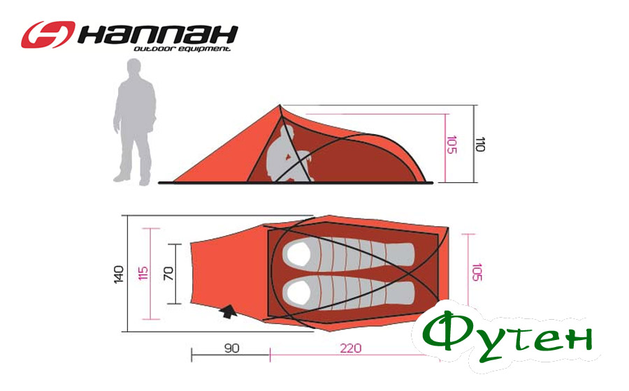 Размеры Палатка Hannah Rider 2