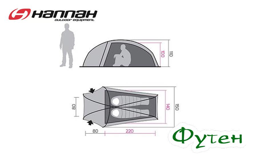 Размерная сетка Палатка Hannah Sett 2