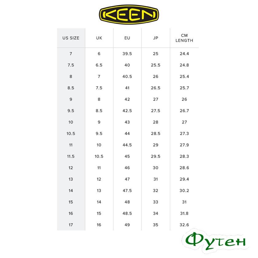 Размерная сетка Keen INNATE Leather WP LTD M