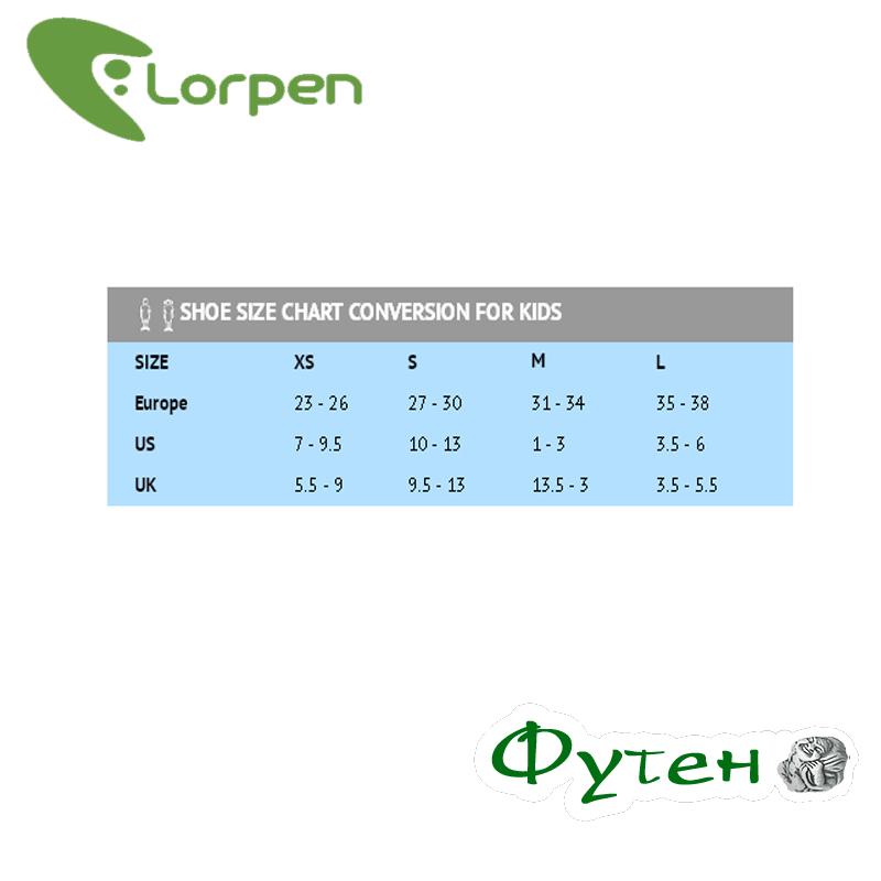 Размерная сетка Lorpen MERINO WOOL Ski 2-pack combo green