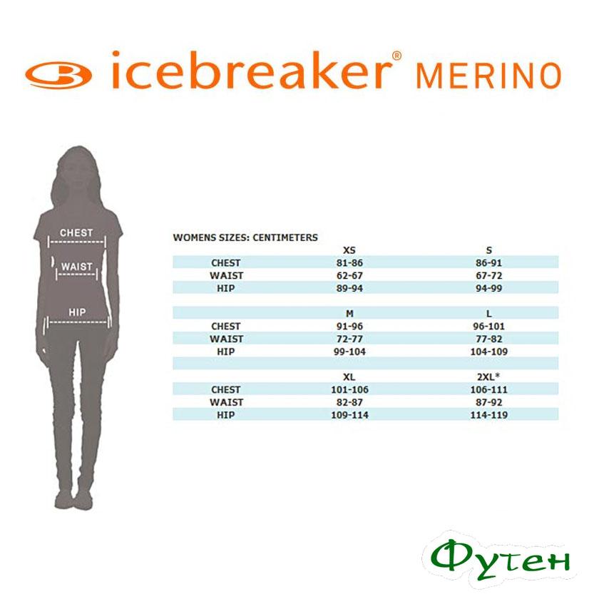 Размерная сетка Куртка женская Icebreaker IB ATOM LS Zip