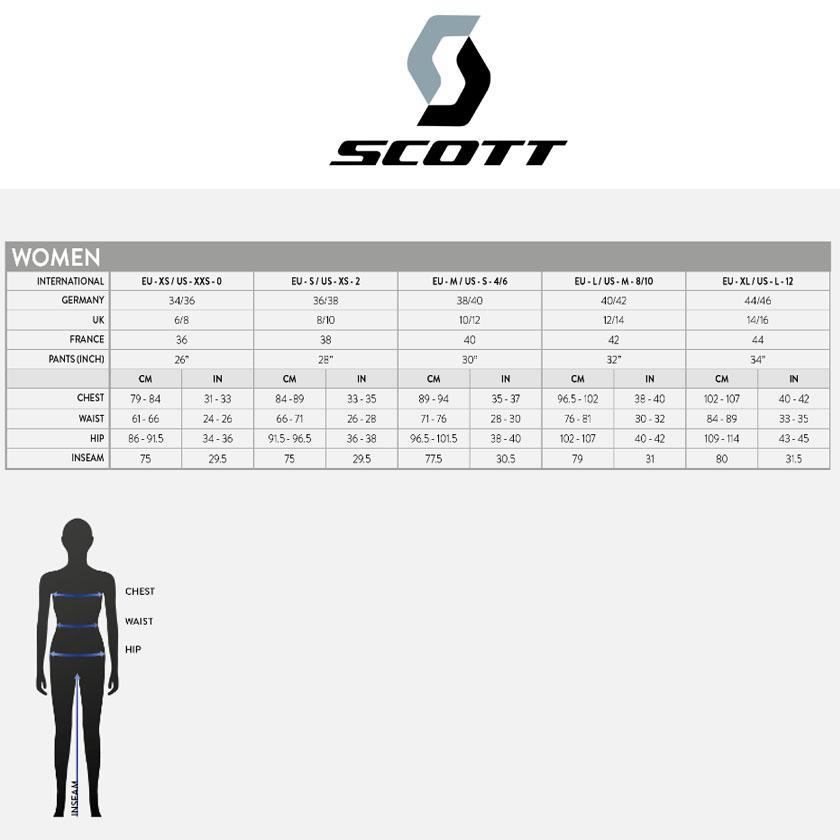 Размерная сетка SCOTT AUTHENTIC