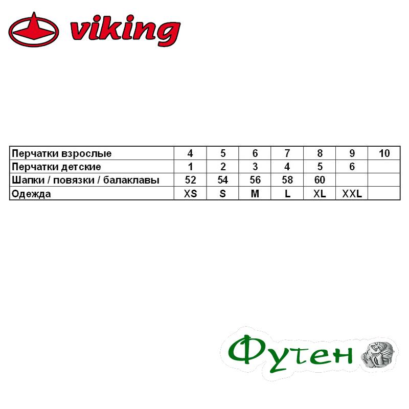 Размерная сетка Перчатки Viking ROCKET