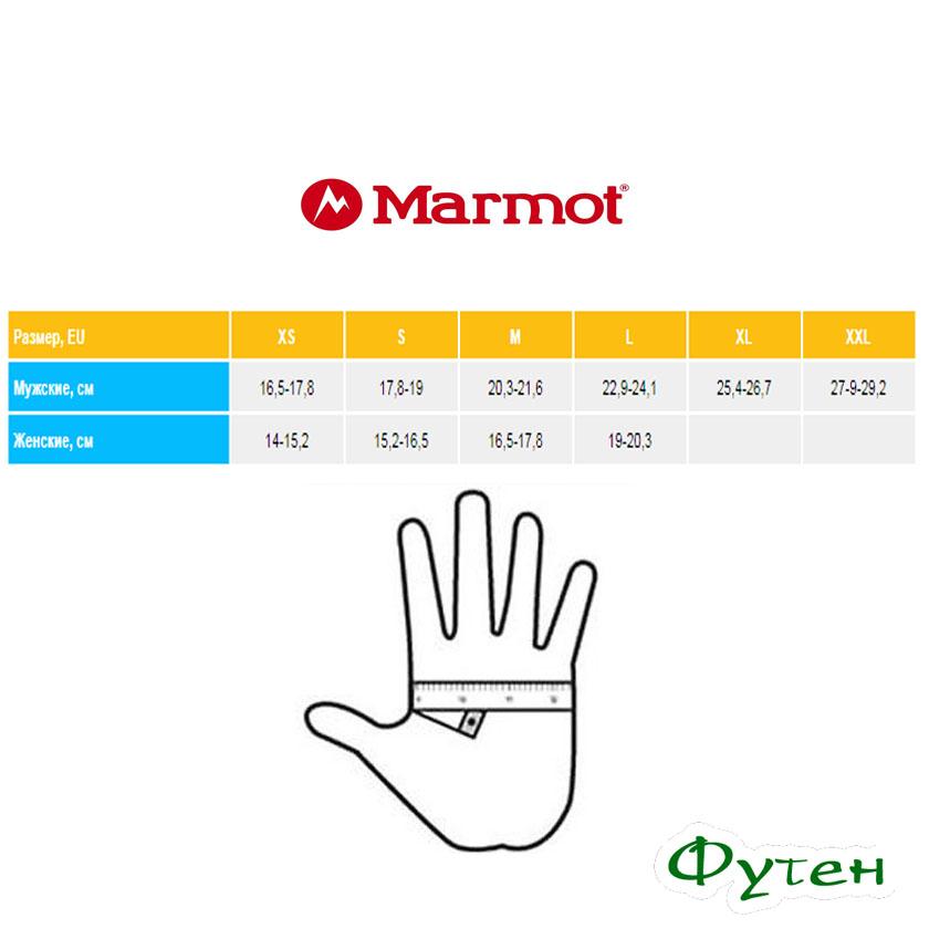 Размерная сетка Перчатки Marmot POWER STRETCH